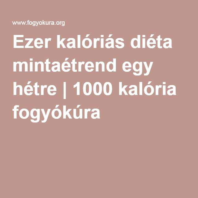 1000 kalória naponta